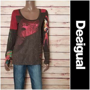 DESIGUAL Slim Fit Long Sleeve T-Shirt